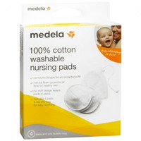 Medela - 100% Cotton Washable Bra Pads (4pcs)