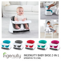 Ingenuity Baby Base 2 in 1 Booster Seat ( Newest version) - 6 months warranty