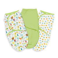 SwaddleMe Adjustable Infant Wrap 3 pack, ABC Animals (Small)