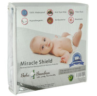 Bebe Bamboo - Bamboo Quilted Waterproof Crib Mattress Protector