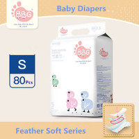 BBG - Baby Diapers Feather Soft Series, Size S 80pcs (S/80)