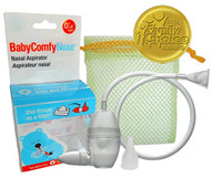 BabyComfy Nasal Aspirator - Hygienically & Safely Removes Baby's Nasal Mucus (Clear)