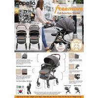 Capella - Freemove 360 Full Functional Stroller, Dark Grey (1 Year Local Warranty) S203-18-DG