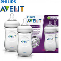 Philips Avent Natural Baby Bottle, 9oz/260ml (Twin Pack) SCF693/23