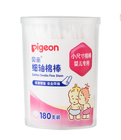 Pigeon - Baby Ear Nose Clean Thin Shaft 100% Cotton Swabs, 180pcs
