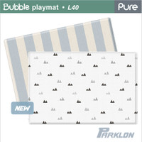 Parklon - PURE Bubble Blanco Blue Stripe, 2100 x 1400 x 40mm (L40)