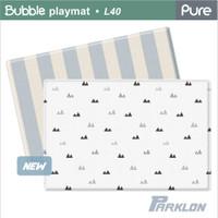 Parklon - PURE Bubble Blanco Blue Stripe, 2100 x 1400 x 40mm (L40) - ETA End Sep