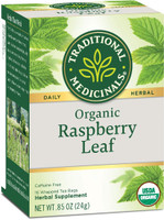 Traditional Medicinals Organic Raspberry Leaf Herbal Tea - Caffeine Free - 16 Bags ( Exp: June 2022)