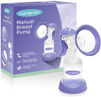 Lansinoh Manual Breast Pump (2 Phases) -  Free Lansinoh breast milk storage bags 25ct