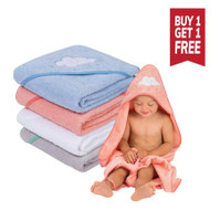 Clevamama Soft Cotton Hooded Baby Bath Towel (3 Colours) - Buy 1 get 1 FREE