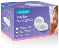 Lansinoh Stay Dry Disposable Nursing Pads, Pack of 100