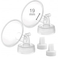 Maymom Flange for Spectra with Valve (Wide-Neck), 2pc (5 Sizes)
