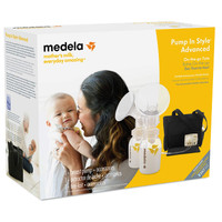 Medela Pump in Style Advanced, On The Go Tote with international adapter and free gift - one year warranty