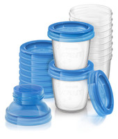 Philips AVENT - Breast Milk Storage Cups, 10 Pack (180ml) SCF618/10