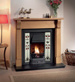 Prince Tiled Cast Iron Insert - Gallery Fireplace Collection