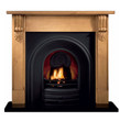 Grand Corbel Pine Mantel - Gallery Fireplace Collection