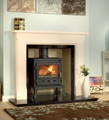 Sienna Agean Limestone Fire Surround - Gallery Fireplace Collection
