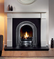 Brompton Agean Limestone Fire Surround - Gallery Fireplace Collection