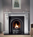 Kingston 63 Inch Carrara Marble Surround - Gallery Fireplace Collection