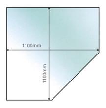 Corner Angle Glass Hearth