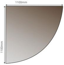 Smoked Quarter Circle Glass Hearth