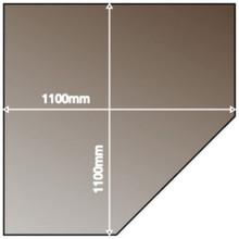 Smoked Corner Angle Glass Hearth
