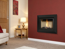Verine Celena Wall Mounted Balanced Flue Gas Fire Black