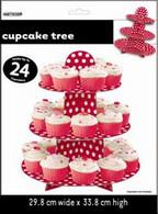 DOTS RED CUPCAKE TREE