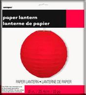 """ROUND LANTERN RED 25cm (10"""")"""
