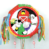 FARM FRIENDS DRUM PULL POP-OUT PINATA