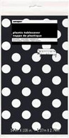 DOTS BLACK PLASTIC TABLECOVER