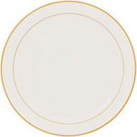 Gold Trimmed Cream Plastic Platter