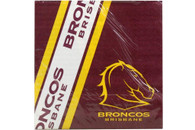 NRL PARTY NAPKINS BRONCOS 12PK 33*33CM