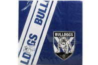 NRL PARTY NAPKINS BULLDOGS 12PK 33*33CM