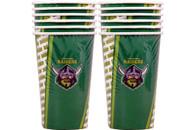 NRL PARTY CUPS RAIDERS 6PK 500ML