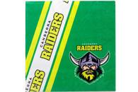 NRL PARTY NAPKINS RAIDERS 12PK 33*33CM