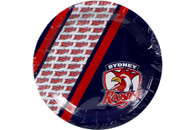 NRL PARTY PLATES ROOSTERS 6PK 24CM
