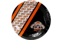 NRL PARTY PLATES TIGERS 6PK 24CM