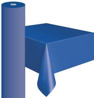 """BLUE METEOR PLASTIC TABLECOVER ROLL 122cm W X 30m L (48""""X100')"""