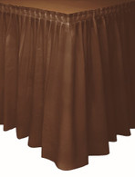 "BROWN PLASTIC TABLESKIRT 73cm X 4.3m (29""X14')"