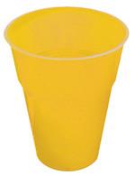 SUNFLOWER YELLOW 25 X 270ml (9oz) PLASTIC CUPS