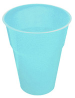 POWDER BLUE 25 X 270ml (9oz) PLASTIC CUPS