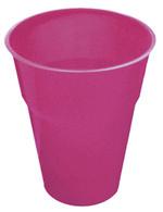 HOT PINK 25 X 270ml (9oz) PLASTIC CUPS