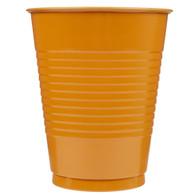 PUMPKIN ORANGE 12 X 270ml (9oz) PLASTIC CUPS