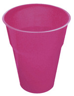 HOT PINK 12 X 270ml (9oz) PLASTIC CUPS