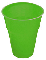 LIME GREEN 12 X 270ml (9oz) PLASTIC CUPS