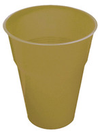 GOLD 12 X 270ml (9oz) PLASTIC CUPS