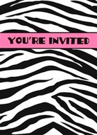 ZEBRA PASSION 8 INVITATIONS