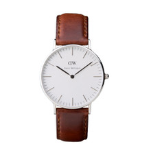 Daniel Wellington Women's Classic St Andrews Silver Tone 36mm Watch