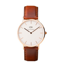 Daniel Wellington Women's Classis St Andrews Rose Gold Tone 36mm Watch